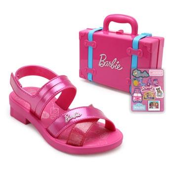 Sandália Barbie Maleta Infantil 22025 Rosa