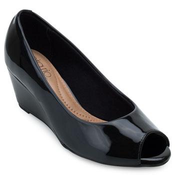 Sapato Peep Toe Beira Rio BR21-4791101 Preto