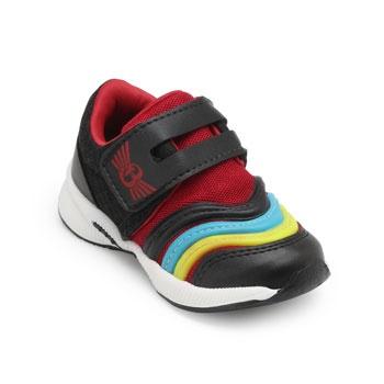 Tênis Jogging Brink FL Infantil BI19-415507 Preto-Vermelho