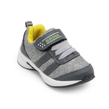 Tênis Jogging Brink Infantil BI19-415509 Cinza-Amarelo