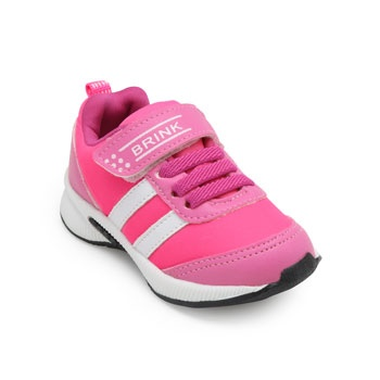 Tênis Jogging Brink Infantil BI19-415509 Rosa-Branco