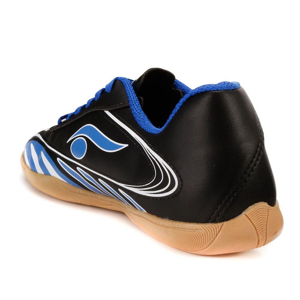 ... Tênis Futsal Dsix 6203 Preto-Azul-Branco 90f14e6041842