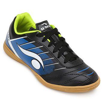 Chuteira Futsal Dsix DS19 6204 Preto-Azul