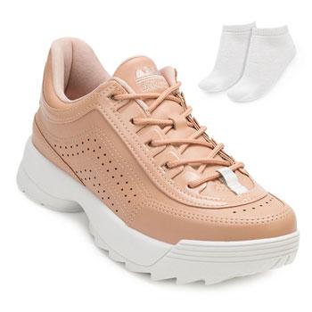 Tênis Dakota Dad Sneaker e Meia DT20-G0988 Nude