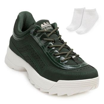 Tênis Dakota Dad Sneaker e Espelho DT20-G0988 Verde