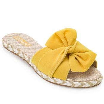 Tamanco Rasteiro Delicada DL20-042 Amarelo