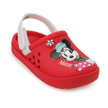 Chinelo Babuche Disney Love 22381 Vermelho-Branco