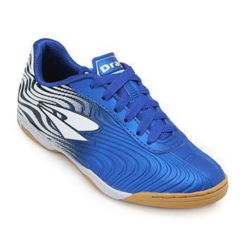 Chuteira Futsal Dray TopFly X2 Juvenil DR19-371CO Azul-Branco