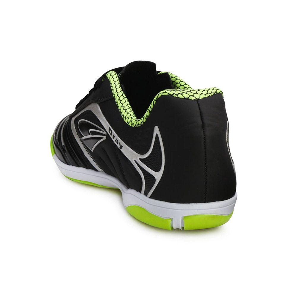 ... Tênis Futsal Dray TopFly IV Juvenil DR18-363CO Preto-Incolor 892103f7a151c