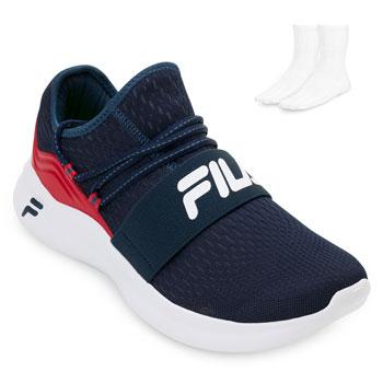Tênis Fila Trend e Meia FL19 Marinho-Vermelho-Branco