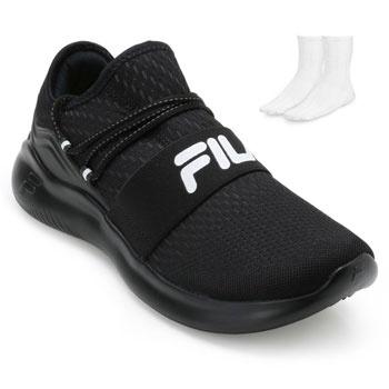 Tênis Fila Trend FL19 Preto-Branco + Brinde