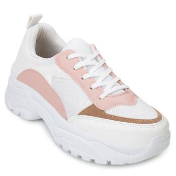Tênis Dad Sneaker Florence FR20-1201835 Branco-Rose