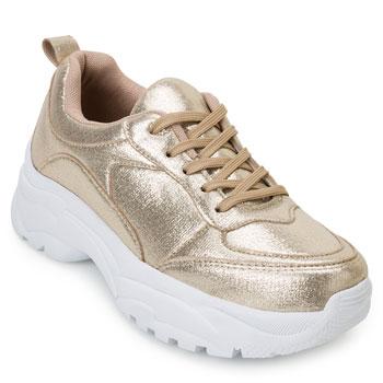 Tênis Dad Sneaker Florence FR20-1201835 Dourado