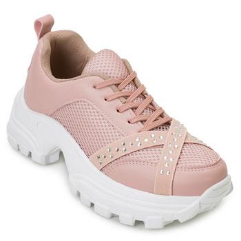 Tênis Dad Sneaker Florence FR20-1476603 Rose-Branco