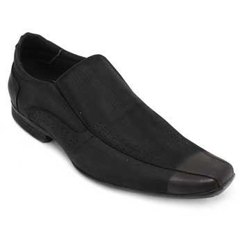 Sapato Focal Flex Couro FF18-1511 Preto TAM 44 ao 51