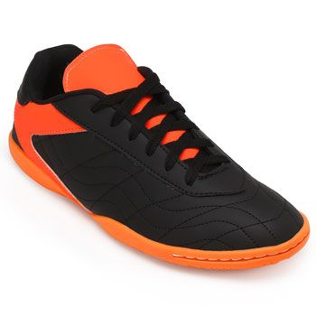 Chuteira Futsal Goleada GO19-0224 Preto-Laranja