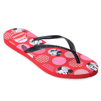 Chinelo Havaianas Slim Disney HA21 Vermelho-Preto