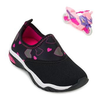 Tênis Kidy Infantil KD20-0071597 Preto-Pink