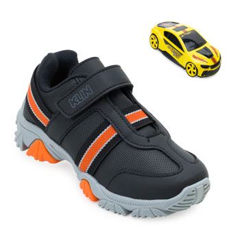Tênis Klin Speed Infantil KL21-250001000 Preto-Laranja