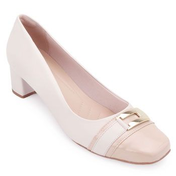Sapato Lady Queen AM18-19008 Amêndoa-Bege TAM 40 ao 44