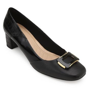 Sapato Lady Queen AM18-19019 Preto TAM 40 ao 44