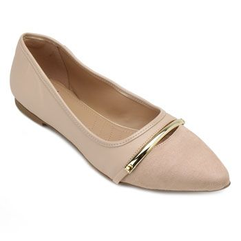 Sapatilha Lady Queen AM18-34017 Suede Nude TAM 40 ao 44