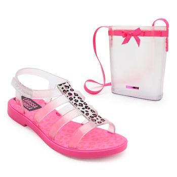 Sandália Larissa Manoela Trend Bag Infantil 22021 Rosa
