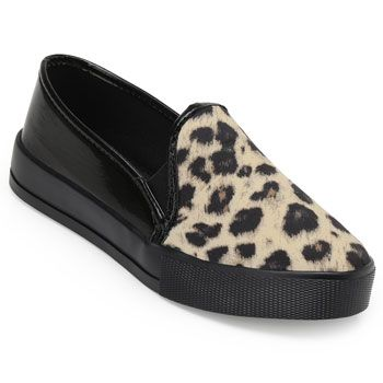 Slip On Laura Lívia LU18-63411 Bege-Preto