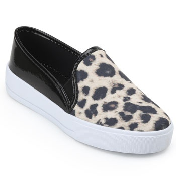 Slip On Laura Lívia LU19-633411 Bege-Preto-Branco