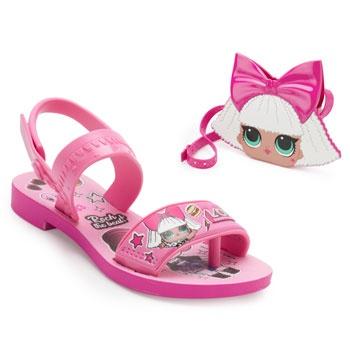 Sandália LOL Diva Bag Infantil 22117 Rosa
