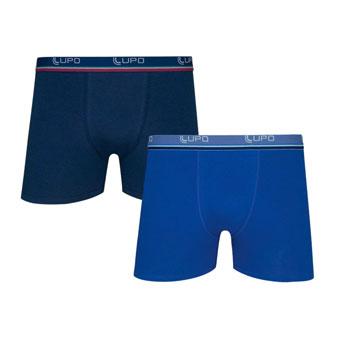Cueca Lupo Boxer Kit C-2 00523 Marinho-Azul
