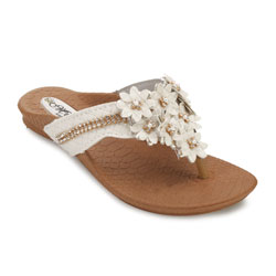 Rasteira Meyre Fashion Juvenil 384I Areia Croco