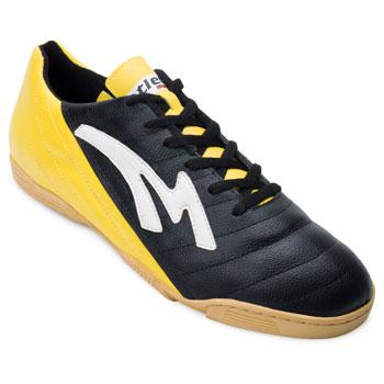 Chuteira Futsal Munique Celta MN19-621-Indoor Preto-Amarelo TAM 44 ao 48