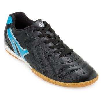 Chuteira Futsal Mathaus MT18-INDO678069 Preto-Azul BB TAM 44 ao 48