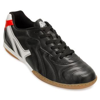 Chuteira Futsal Mathaus MT18-155.069 Preto-Branco-Vermelho TAM 44 ao 48