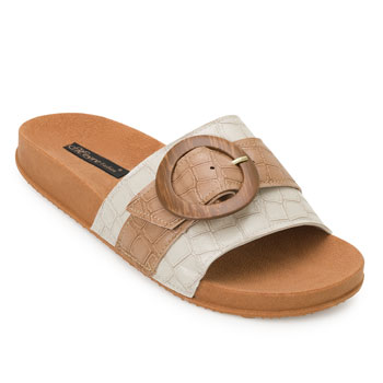 Chinelo Birken Meyre Fashion MF20-152 Bege-Caramelo
