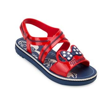 Sandália Minnie Charm 22107 Azul-Vermelho