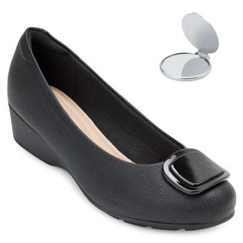 Sapato Modare Anabela e Espelho MD20-7014262 Preto