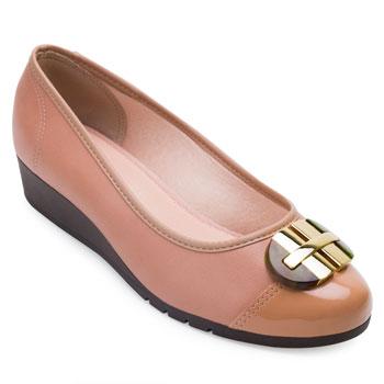 Sapato Anabela Moleca ML21-5156770 Nude