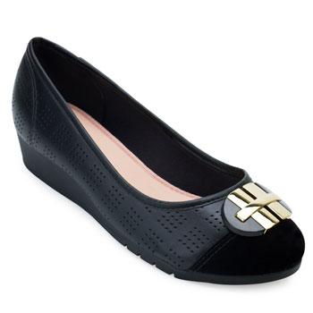 Sapato Anabela Moleca ML21-5156770 Preto