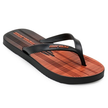 Chinelo Mormaii Tropical 10591 Preto-Laranja