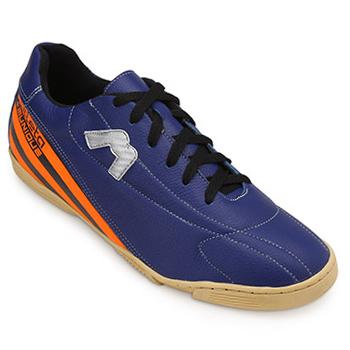 Chuteira Futsal Munique Trivela 621 Azul-Laranja TAM 44 ao 48