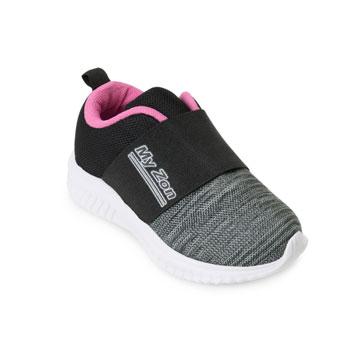 Tênis Myzon Baby MZ20-348 Preto-Pink-Branco