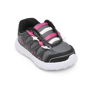 Tênis Myzon Infantil 441 Preto-Pink