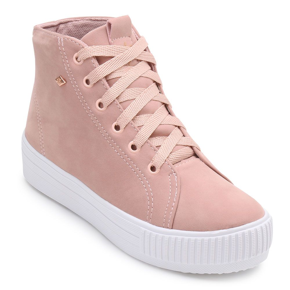 adidas cano alto feminino rosa
