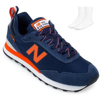 Tênis New Balance e Meia NB21-ML515BL3 Marinho-Laranja