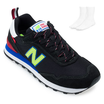 Tênis New Balance e Meia NB21-ML515BZ3 Preto-Verde-Azul