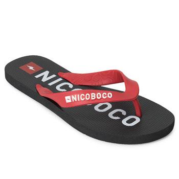Chinelo Nicoboco NB20-69673 Preto-Vermelho