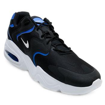 Tênis Nike Air Max 2X NK21 Preto-Branco-Azul TAM 44 ao 48