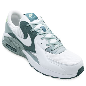 Tênis Nike Air Max Excee NK21 Branco-Cinza-Verde TAM 44 ao 48